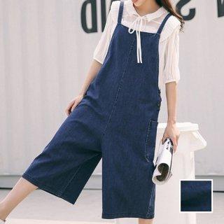 韓国 ファッション オールインワン オーバーオール 秋 夏 春 カジュアル PTX5228  ガーリー かわいい ワイドパンツ ロング オルチャン シンプル 定番 セレカジ