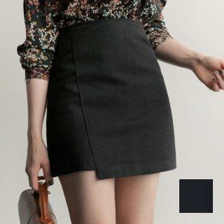 軽やかに揺れるアンバランス丈で美女感仕上げ☆濃色ミニスカート 秋 夏 春 PTX5266