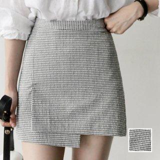 「キュートコーデに大活躍♪」アシメ☆チェックミニスカート 夏 春 PTX9472