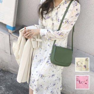 韓国 ファッション ワンピース 春 夏 カジュアル PTXA278  リゾートワンピース ハワイ シアー シースルー シフォン風 ボウタイ ロング オルチャン シンプル 定番 セレカジ