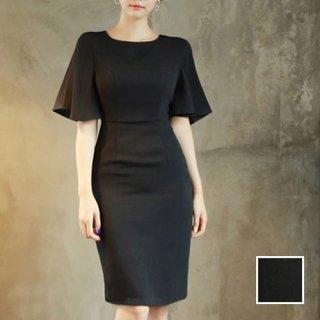 韓国 ファッション ワンピース パーティードレス ショート ミニ丈 春 夏 パーティー ブライダル PTXA821 結婚式 お呼ばれ フレアスリーブ 着回し オフィス フォー 二次会 セレブ きれいめ