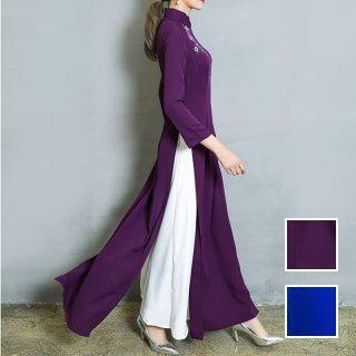 「惹きつける鮮やかカラー」トラディショナルなチャイナドレス 秋 冬 PTXC551