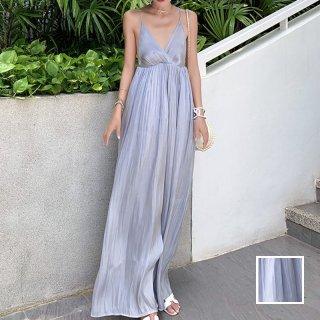 「ワンランク上のセンシュアル♪」光沢あるスリップドレス 夏 春 PTXF295