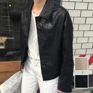 韓国 ファッション アウター レザージャケット コート 秋 冬 カジュアル PTXG661  ユニセックス マニッシュ ブルゾン 革ジャン オルチャン シンプル 定番 セレカジ