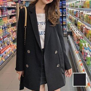 韓国 ファッション アウター ジャケット 秋 冬 カジュアル PTXG673  チェック ターンオフカフス ダブル 羽織り オルチャン シンプル 定番 セレカジ