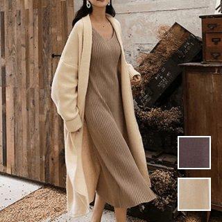 韓国 ファッション アウター コート 秋 冬 カジュアル PTXH145  ビッグシルエット コーディガン ロングカーディ オルチャン シンプル 定番 セレカジ