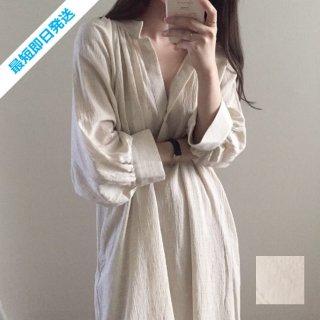 【即納】韓国 ファッション ワンピース 春 夏 カジュアル SPTXF620  マキシワンピース リゾートワンピース ハワイ リネン風 ナチュラルテイスト ビッグ オルチャン シンプル 定番 セレカジ