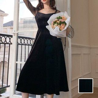 韓国 ファッション ワンピース パーティードレス ロング マキシ 夏 春 秋 パーティー ブライダル PTXI328 結婚式 お呼ばれ シースルー 起毛 シック エレガント  二次会 セレブ きれいめ