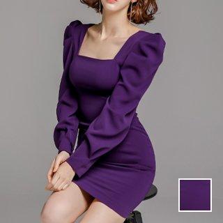 韓国 ファッション ワンピース パーティードレス ショート ミニ丈 夏 春 秋 パーティー ブライダル PTXI335 結婚式 お呼ばれ Yライン マイクロミニ スクエアネッ 二次会 セレブ きれいめ