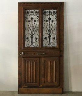 French iron door