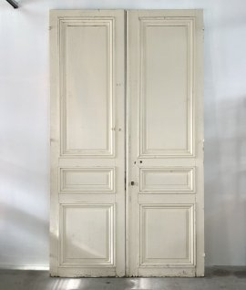 Pair of french panel doors