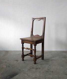 19c French oak chair