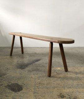 French Oak Wood Bench