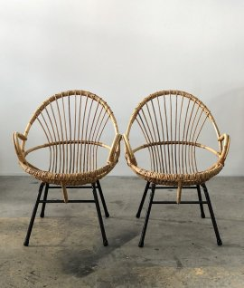 Rattan chair 2set