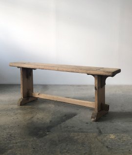 French wood bench