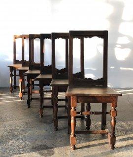 19c French oak chair 6set