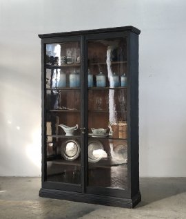 19c French Glass Cabinet