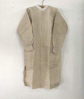 France vintage linen smock