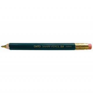 【OHTO(オート)】木軸シャープ消しゴム付き 2.0mm  グリーン
