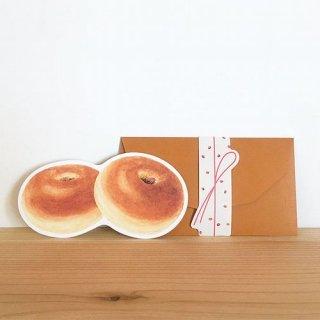 【rala desing】あんパン メッセージカード