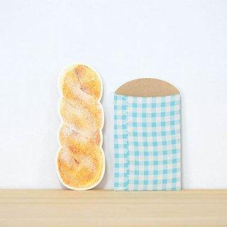 【rala desing】ツイストドーナツ メッセージカード