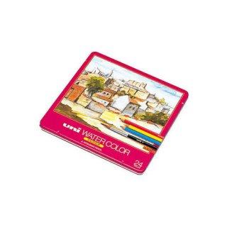 【三菱鉛筆】ユニ ウォーターカラー 24色セット (水彩色鉛筆)