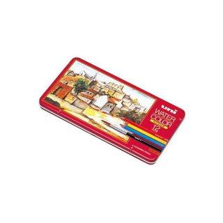 【三菱鉛筆】ユニ ウォーターカラー 12色セット (水彩色鉛筆)