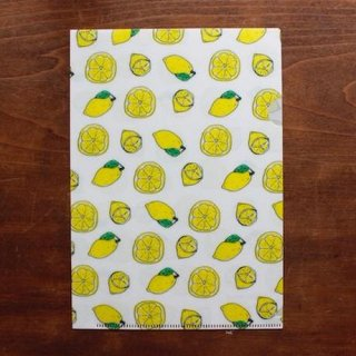 【手紙舎】イザベル・ボワノ A5クリアファイル「レモン」