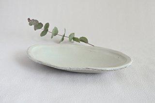 化粧楕円皿 - 岡崎 勉 -