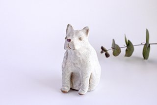 犬の置物 白(佐野成羅)