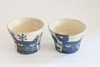 掻き落としカップ(平野照子)