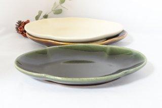 木瓜皿・緑色(矢口桂司)