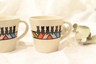 ミニマグカップ / ドリーム / 六猫 - 北村陶房 -