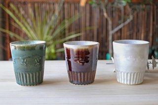 フリーカップ / 3種  - 宮川 裕美子 -