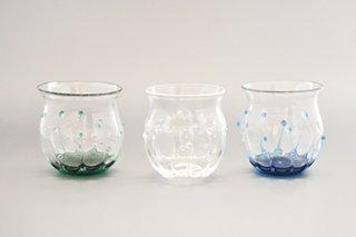 雫のグラス / 3種 - 小林 亮二 Coba_luto glass labo -