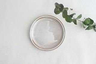 5寸リム皿 / 白化粧 - コイケヨシコ -