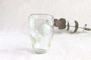 泡 水玉グラス - 吹きガラス工房 一星 -