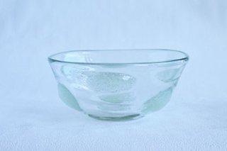 泡 水玉丸鉢・中 - 吹きガラス工房 一星 -