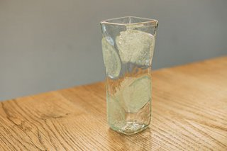 泡水玉 角花器 - 吹きガラス工房 一星 -