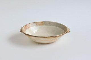 渕荒粉引 / 耳付だ円深鉢  - 古谷製陶所  -