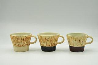 スクラッチ マグカップ / 白・黒・茶 - 中川 雅佳 -