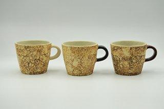 コルク 面取マグ 中 / 白・黒・茶 - 中川 雅佳 -