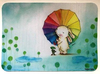 「雨ふりうさぎ」 マウスパッド