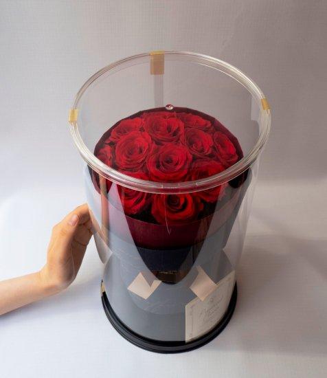 【ダーズンローズ12本】枯れない花、赤いばらレッド置ける花束(プリザーブトフラワー)