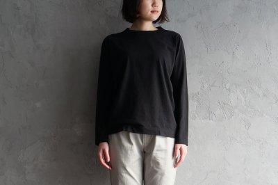 homspun 天竺長袖Tシャツ〈ブラック〉