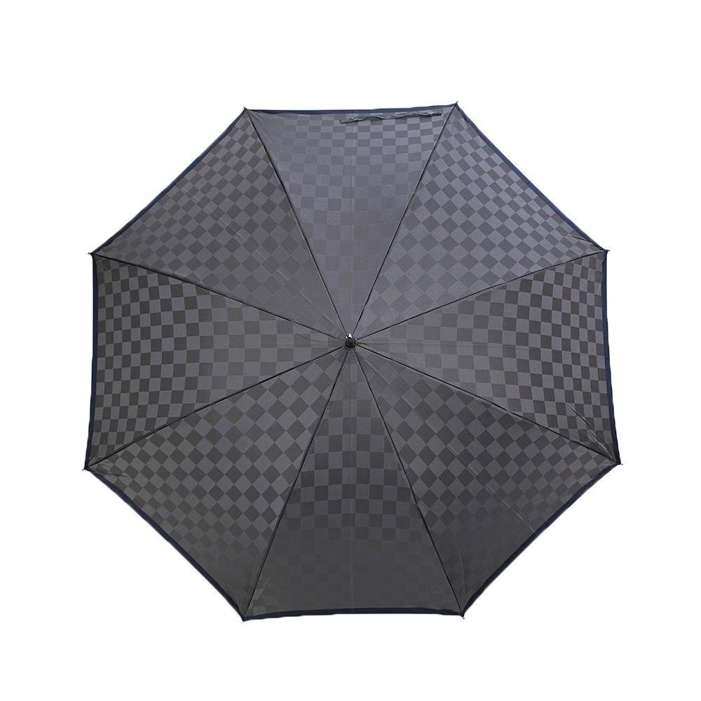 市松柄 ジャンプ 耐風骨 長傘 詳細画像9