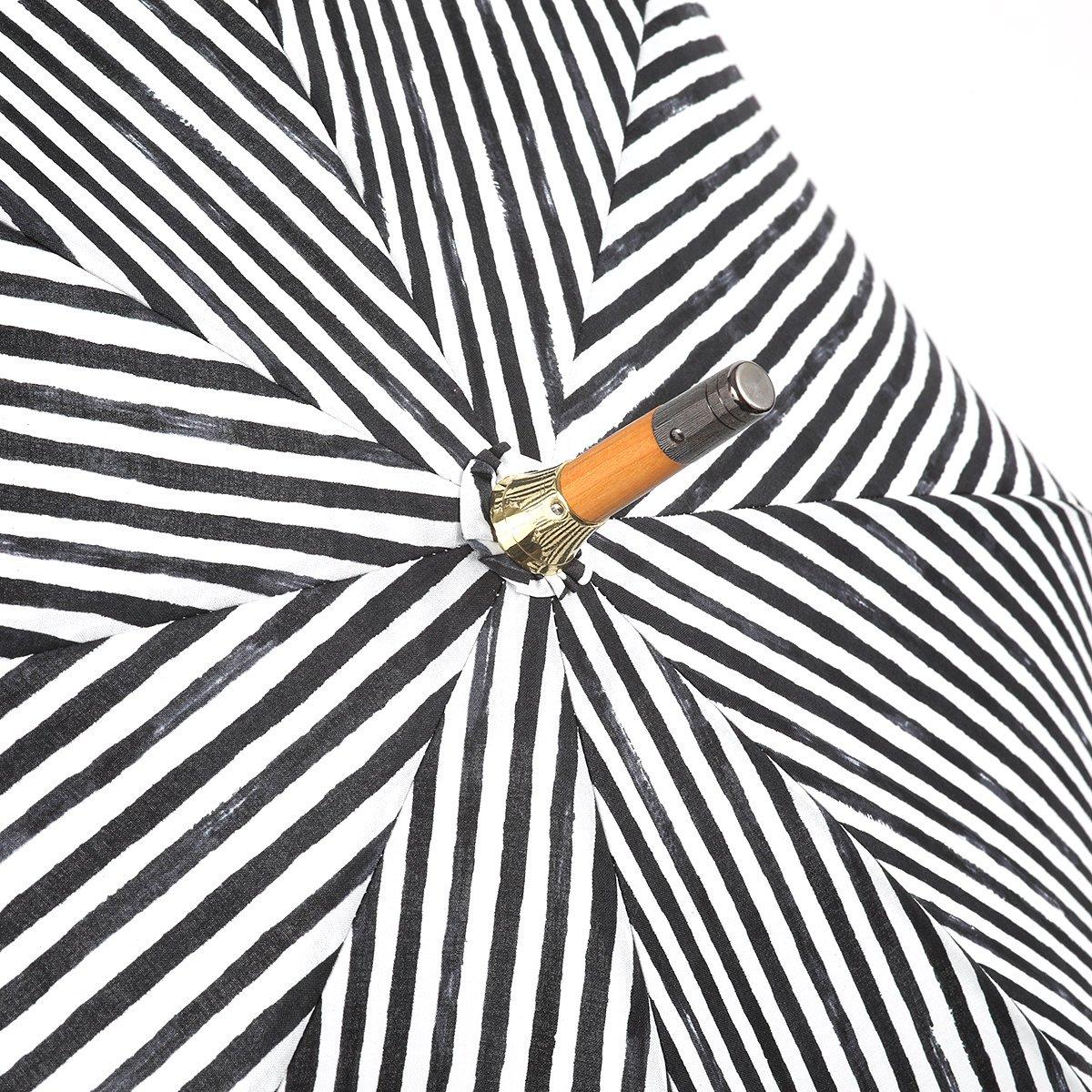 【晴雨兼用傘】レディース 手書き風 ストライプ柄 長傘 詳細画像5