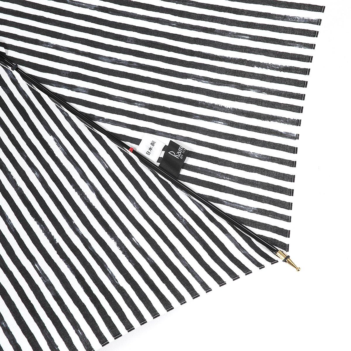 【晴雨兼用傘】レディース 手書き風 ストライプ柄 長傘 詳細画像7
