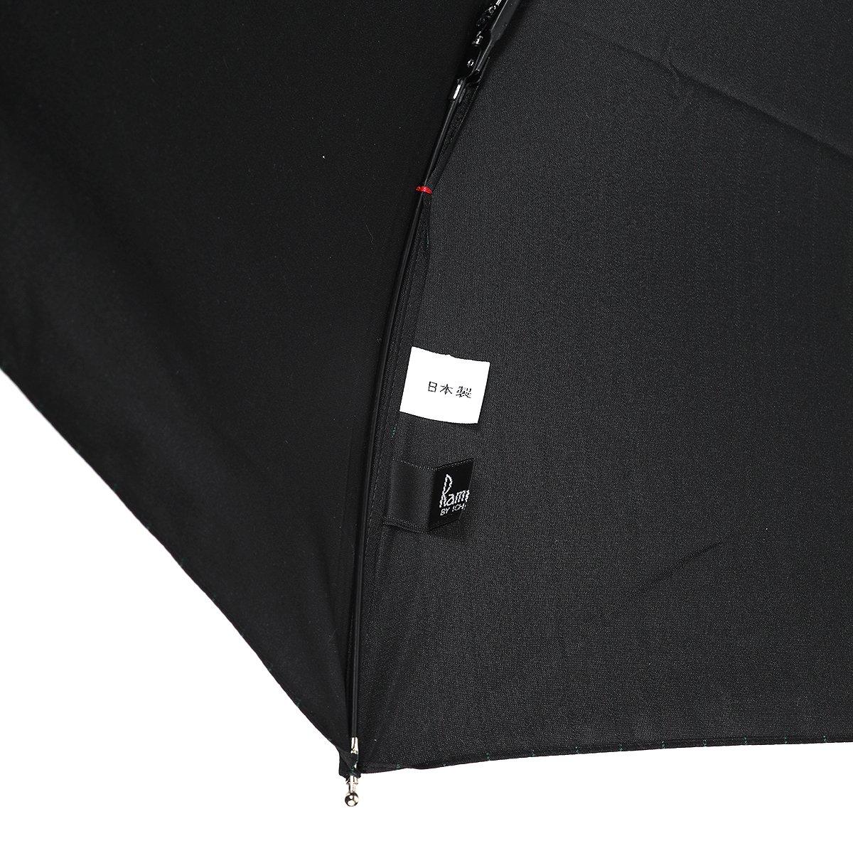 【セール】グリーン ストライプ 耐風骨 折りたたみ傘 詳細画像5