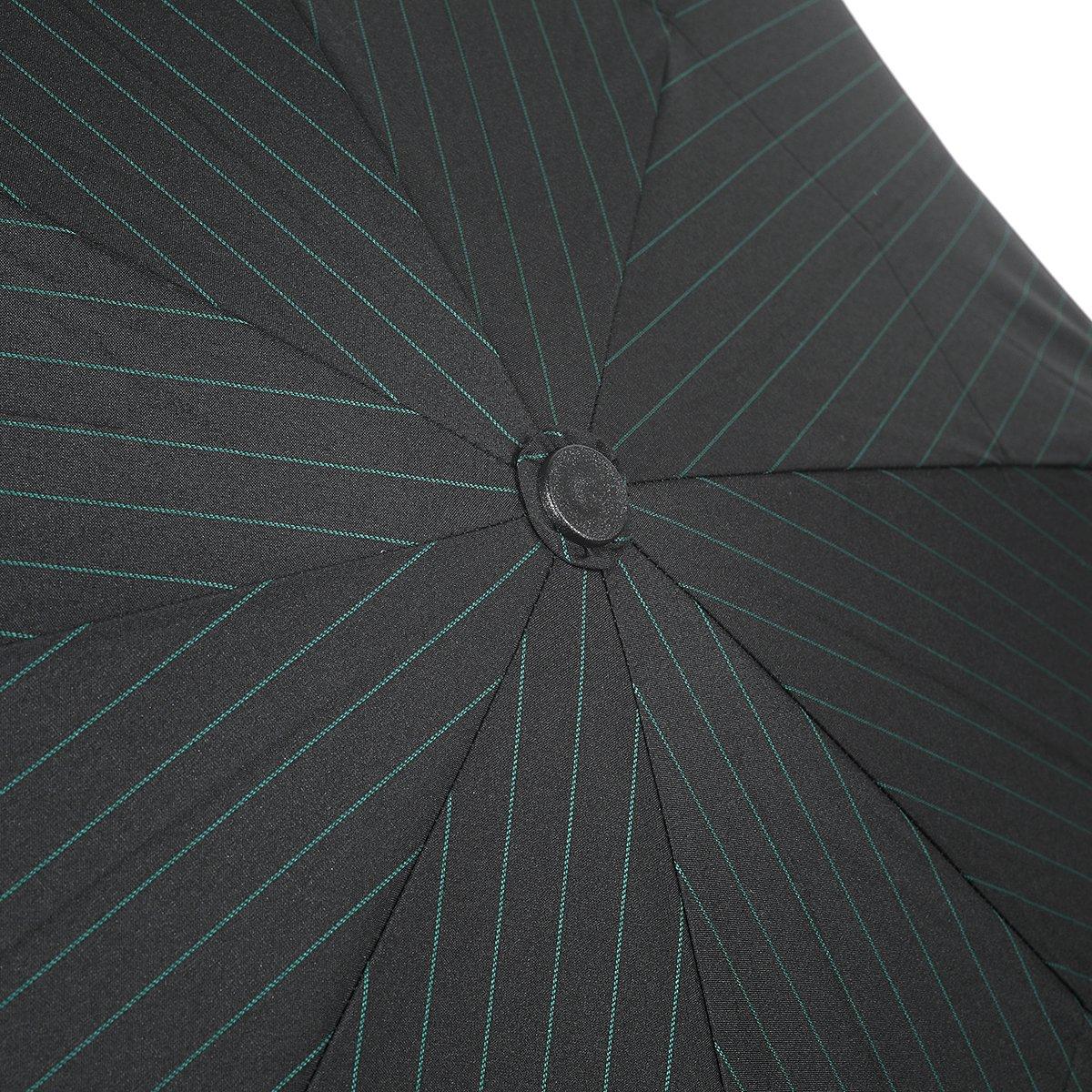 【セール】グリーン ストライプ 耐風骨 折りたたみ傘 詳細画像6